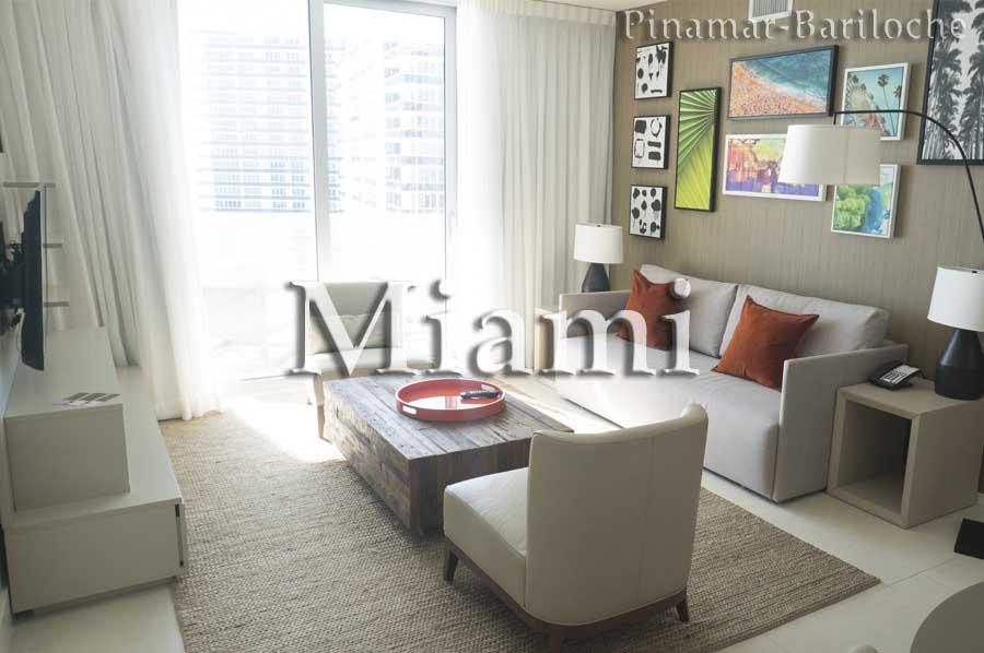 Departamento Sobre La Playa En Miami -alquiler Turístico – T305